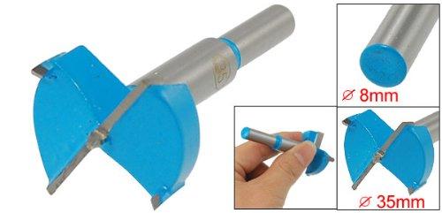 Uxcell Hinge Boring Drill Bit Gray Blue 35mm Cutting Diameter