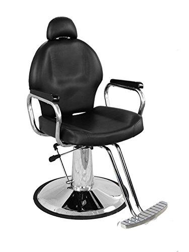 BarberPub All Purpose Hydraulic Barber Chair Salon Spa Styling Equipment (6154-9838, Black)