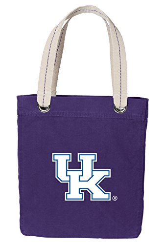 Kentucky Wildcats Tote Bag - Broad Bay University of Kentucky Tote Bag Rich Dye Washed Cotton Canvas