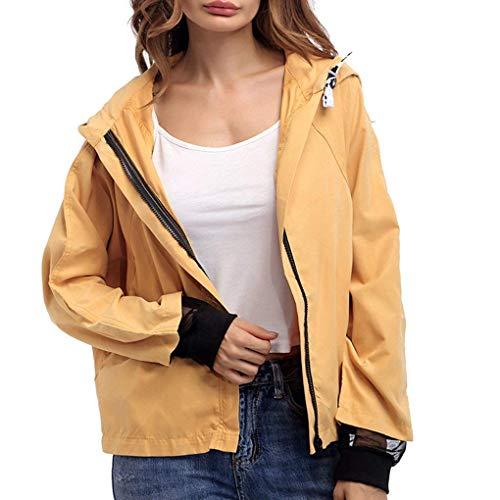 Veste A Capuche Femme Printemps Automne Mode Bouffant Coupe Vent Spcial Style Manches Longues avec Zip Dcontract Elgante Outdoor Outerwear Manteau Jacket Grn