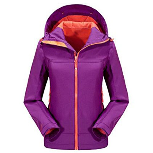 Fleece Warm Softshell Donna Impermeabile Esterno Sportswear Viola Antivento Spring Giacche Da nPw7q1YF1