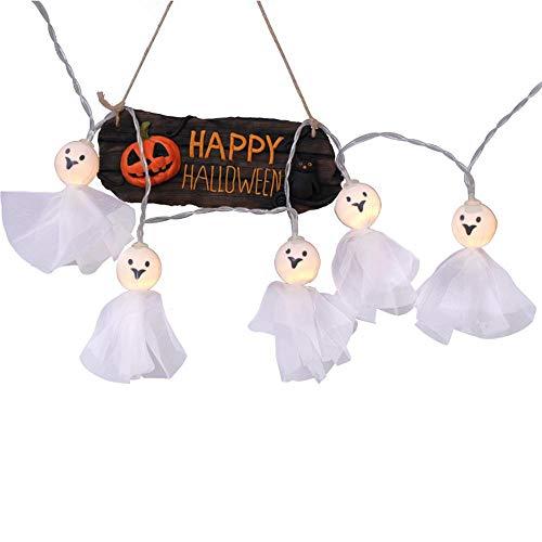 FOONEE Halloween Fairy Light Ghost Doll Decoration, Battery