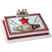CakeDrake World WRESTLING BELT WWE John Cena Randy Orton The Miz Cake Decor Topper Kit W