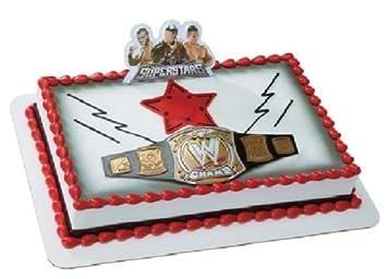 Amazoncom CakeDrake World WRESTLING BELT WWE John Cena Randy Orton