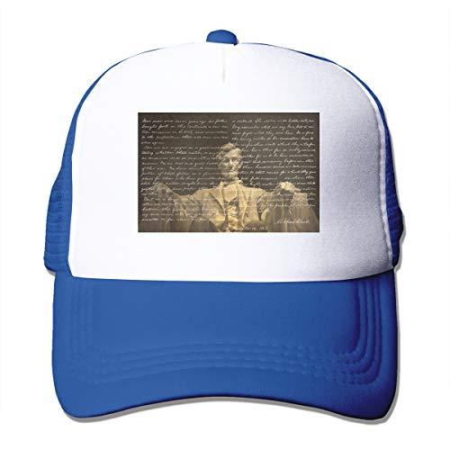 HiPiClothK Unisex Abraham Lincoln Trucker Hats Blue