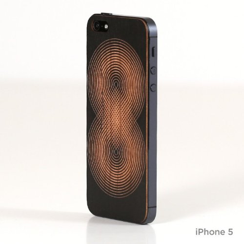 Lazerwood 22184 Andy Gilmore Ad Infinitum Holz Cover für Apple iPhone 5/5S inkl. Displayschutzfolie schwarz