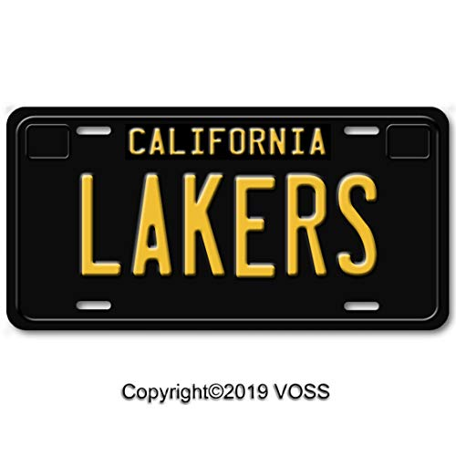 Voss Collectables California Sports Team Aluminum Car Vanity License Plate Tag Black, ()