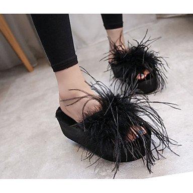 LFNLYX Zapatillas de mujer & Flip-Flops Otoño Invierno Confort Casual PU Chunky talón Rojo Negro Otros Otros Red