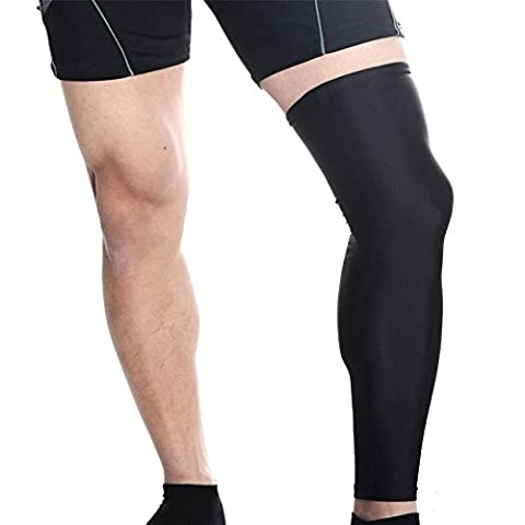 Triton Over The Knee Compression Calf Sleeves - Shin Splint Support for Men and Women, Enhances Blood Circulation for Athletes, Aids in Injury Prevention and Faster Muscle Recovery. (1 pair) - Over Calf Support