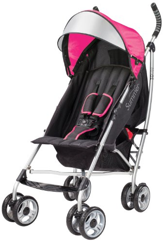 Summer Infant 2014 3D Lite Convenience Stroller, Hibiscus Pink Discontinued by Manufacturer