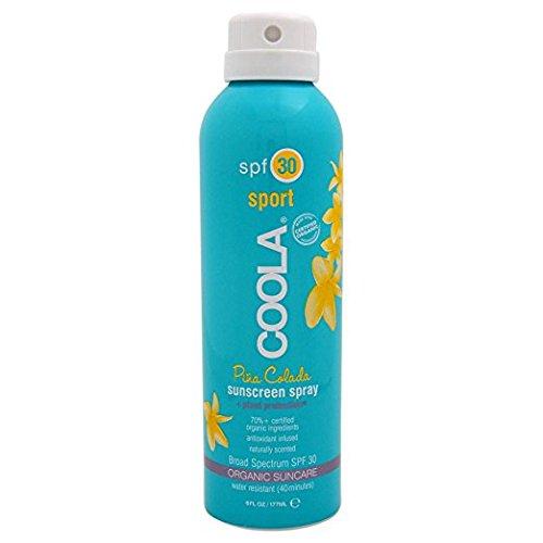 COOLA Organic Suncare, Eco-Lux Size, Pina Colada Body Sunscreen Spray, SPF 30, 8 fl. (Body Spray Spf 30 Sunblock)