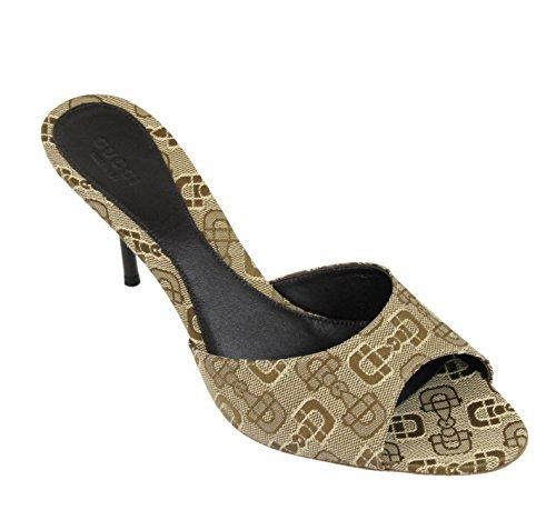Gucci Women's Canvas Horsebit Print Slides Sandals 295093 (9 US / 39 IT, - Gucci S