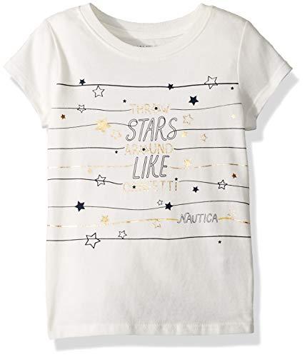 - Nautica Girls' Little Short Sleeve Graphic Tee, Cream Stars, 5