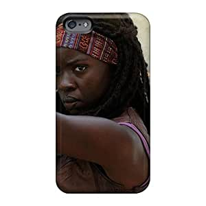 High Quality Mobile Cases For Apple Iphone 6 Plus With Custom Attractive The Walking Dead – Michonne Skin JohnPrimeauMaurice