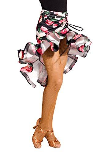 SCGGINTTANZ G2027 Professionnel de Danse de Salon Latine la Jupe de la balan?oire irrgulire (SBS)flower