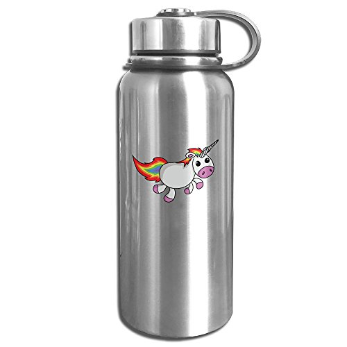 Unicorn Fire Stainless Steel Outdoor Sports Water Bottle Vacuum Insulated Double Wall Water Kettle 800ml