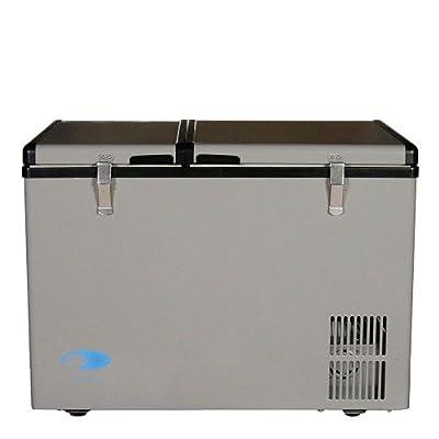 Whynter FM-62DZ 62 Quart Dual Zone Portable Fridge/Freezers One Size Gray