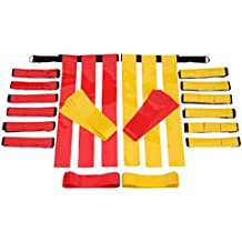 Flag Football Belts Adult - Durable 14 Player Velcro Flag Football Set of Belts and Flags Includes 3 Flags Per Belt Plus a Bonus 6 Replacement Flags (62 Piece Kit)