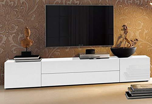 HEERA MOTI CORPORATION Engineered Wood TV Entertainment Unit White , 4 Doors