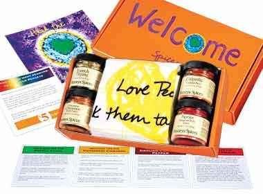 Welcome Spices Gift Box By Penzeys Spices