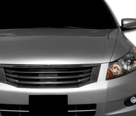 Honda Accord 4Dr Blk Mu Style Badgeless Front Hood Bumper Grill Grille