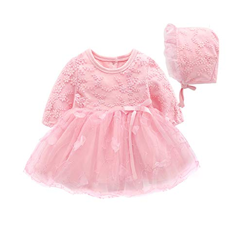Qpika Autumn Spring Infant Baby Fashion Girls Party Lace Tutu Princess Dress Clothes Outfits -