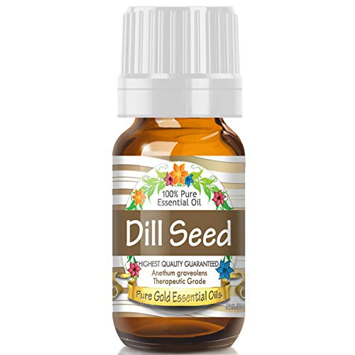 Dill Seed Essential Oil (100% Pure, Natural, UNDILUTED) 10ml - Best Therapeutic Grade - Perfect for Your Aromatherapy Diffuser, Relaxation, More!