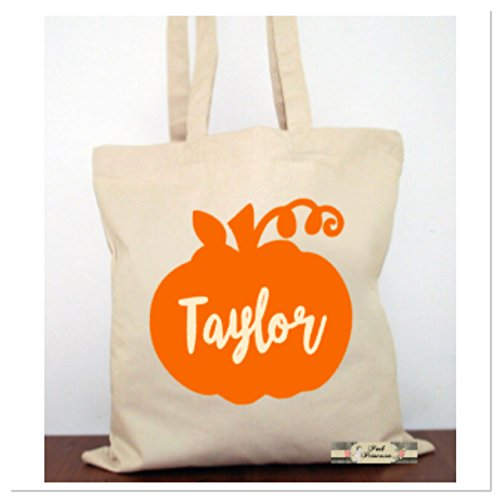 Personalized Trick Or Treat Bag, Personalized Halloween Pumpkin Bag, Halloween Favors. Halloween Costume Canvas Tote Child -