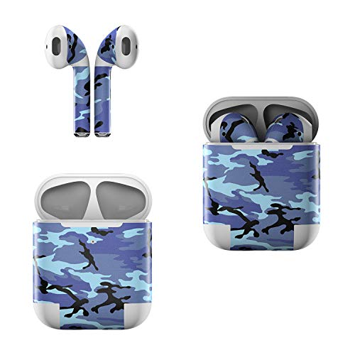 Camo Sky - Skin Decals for Apple AirPods - Sky Camo - Sticker Wrap Fits 1st and 2nd Generation
