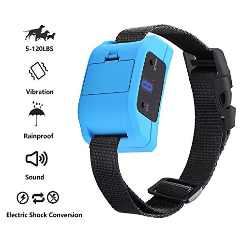 MANGUMEN Anti Bark Collar for Small, Medium, Large Dogs – Dog Bark Shock Collar Device to Stop,Control Barking w/Humane 2019 Newest Automatic ULTRASONIC TECH for 5-120 lbs Breeds (Blue)