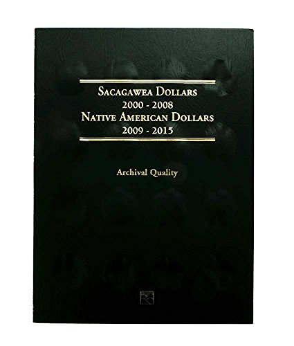 (1 - 2000 - 2015 and 2016 - Present Sacagawea/Native American Dollar Coin 2 Folder Set - Holds 64 Coins - - -)