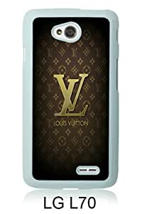 LG L70 Case ,Hot Sale And Popular Designed LG L70 Case With Brown-Louis-Vuitton-Logo-and-Patterns White Hight Quality Cover