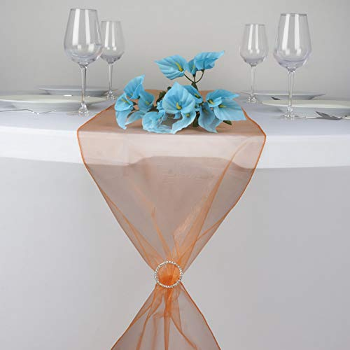 (Mikash 14 x 108 Organza Table Top Runners Wedding Party Dinner Reception Decorations   Model WDDNGDCRTN - 2260   1 pc)
