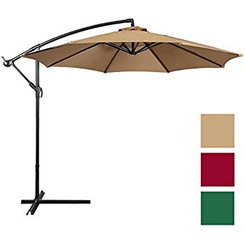 Best Choice Products Offset 10u0027 Hanging Outdoor Market New Tan Patio  Umbrella, Beige