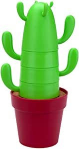 INMYLIFE 4 pieces/set Stackable Cactus Plant Mugs Set for Coffee Tea Creative Home Mugs Cute Southwestern Decor coffee mug