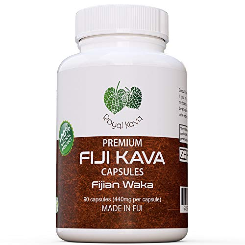 Kava Root Capsules - Royal Kava Pure Noble Kava Capsules Highest Grade Fijian Kava Kava Extract 1760mg Servings for Relaxation & Stress Relief 100% Organic Relax Better with Kava Now