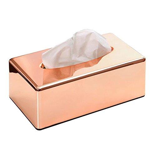 Bonroy C Modern Luxury Abs Plating Bathroom Facial Tissue Dispenser Box Cover Decorative