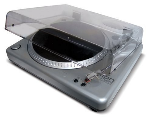 Ion Audio TTUSB 10 Vinyl Recording USB Turntable with Audacity Software, Dust Cover and Analog Stereo Input (Refurbished)