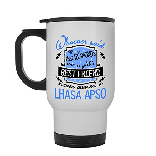Lhasa Apso Travel Mug, Lhasa Apso White Travel Mugs Ceramic For You And Your Family (Travel Mug)