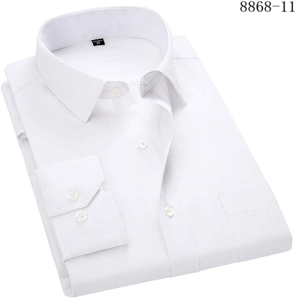 POMU 4XL 5XL 6XL 7XL 8XL camisa de vestir para hombre de ...