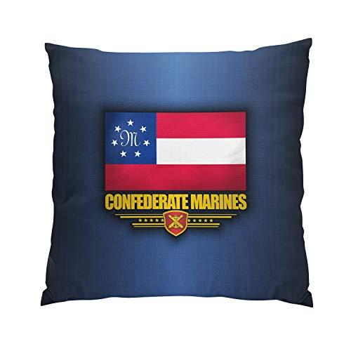 Gygarden Modern Confederate States Marines Flag Hidden Zipper Home Sofa Decorative Throw Pillow Cover Cushion Case European Square 26x26 Inch Two Sides Design Printed ()