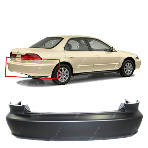 MBI AUTO - Primered, Rear Bumper Cover for 1998-2002 Honda Accord Sedan 98-02, HO1100184