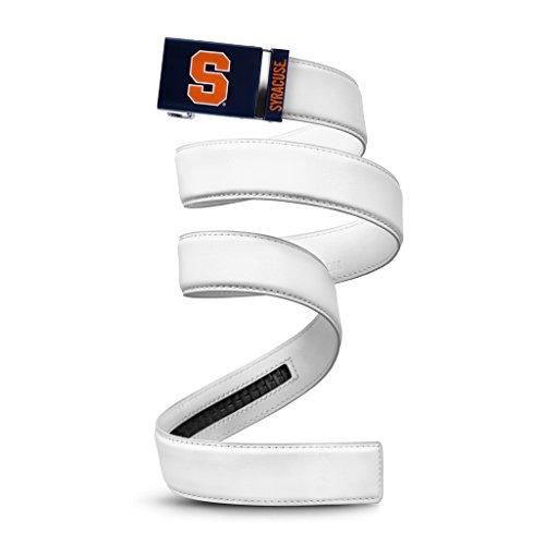 NCAA Syracuse Mission Belt, White Leather, Medium (up to 35)