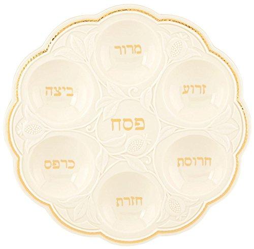 (Lenox Judaic Blessings Seder Plate, White )