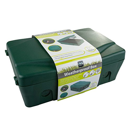 masterplug IP54 Weatherproof Enclosure Box For Outdoor Electrical Power Connections - Green