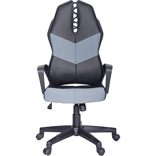 ModernLuxe Terra Series Racing Style Gaming Chair Soft PU Leather and Mesh Fabric Task Chair (Blue) by ModernLuxe
