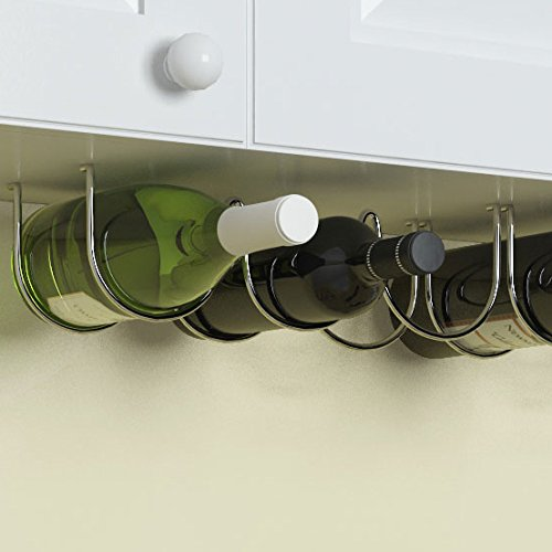 Amazoncom Wallniture Under Cabinet Wine Storage Rack For 6 Liquor