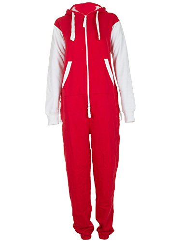 Love My Fashions Men's Onesie Arsenal Manchester United Football Style Jumpsuit XXXX-Large Red