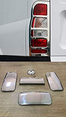 Stainless Steel Chrome Rear Lamp Frame Trim Cover 2 Pieces