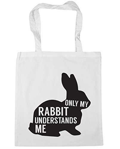10 Only understands rabbit Shopping me Gym 42cm x38cm litres HippoWarehouse my White Bag Tote Beach AdqtgZA7wn